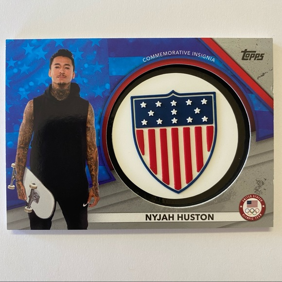 NEW 2021 NYHAH HOUSTON USA OLYMPIC RELIC CARD